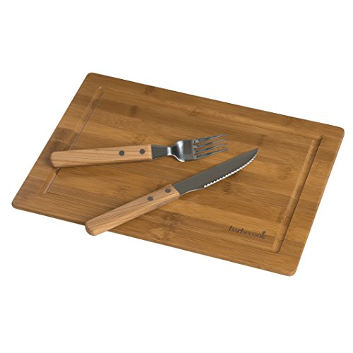 Barbecook 223.0017.000 Set de dîner Tablette en bambou et couverts