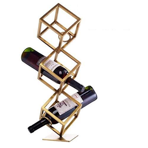 Estante para Vinos Independiente, Estante para Botellas Estante para Botellas Independiente - Estante para Vinos de Metal Decoración Sala de Estar Bar - DecoracióN Del Hogar