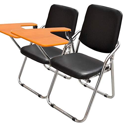 FSCY FS Klappstuhl, Trainingsstuhl Mit Schreibtafel Konferenzreporter Stuhl Klappstuhl Bürostuhl (Zwei Packungen)