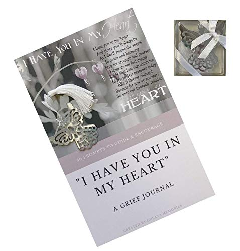 Healing for the Hurting for Help With Loss of Loved One Unique Sympathy Gift Grief Journal Diary With Angel Bookmark For Lasting Memorial and Loving Memories