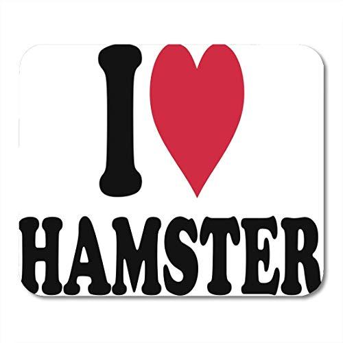 Mauspad Tier Ich liebe Hamster Niedliches Herz Säugetier Haustier Piktogramm Mousepad für Notebooks, Desktop-Computer Mausmatten, Büromaterial