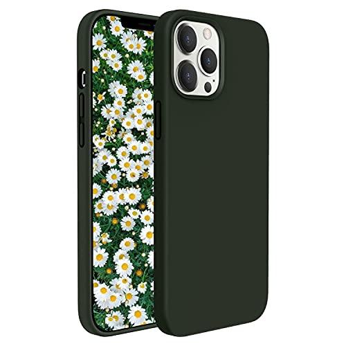 """GOODVISH Silicone Custodia Cover Compatibile con iPhone 12/12 PRO Case (6.1""""), Tutto Corpo Protettiva Morbido Custodia, Cover Antiurto con Fodera in Microfibra,Verde Cipro"""