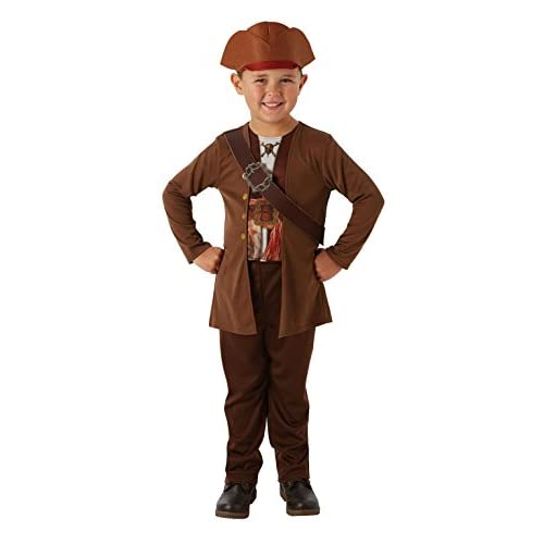 Rubie's Pirati Dei Caraibi Movie Costume Jack Sparrow per Bambini, M, IT630787-M