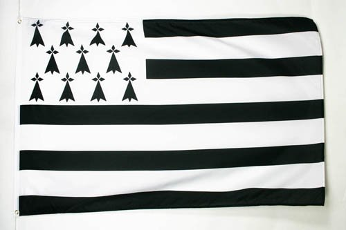 AZ FLAG Flagge Bretagne 150x90cm - Bretagne Fahne 90 x 150 cm feiner Polyester - flaggen