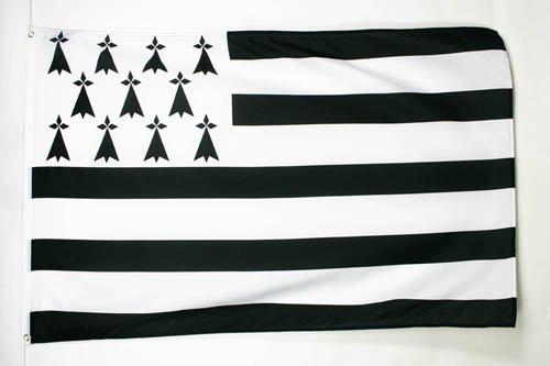 AZ FLAG Bandera de BRETAÑA 150x90cm - Bandera DE Bretagne - Francia 90 x 150 cm