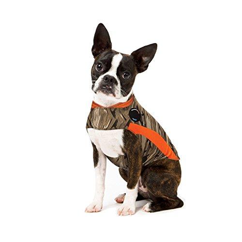 ThunderShirt Polo Dog Angstjacke | Von Tierärzten empfohlene Beruhigungslösung Weste für Feuerwerk, Thunder, Reisen und Trennung | Camo, XS