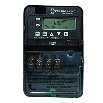 Intermatic ET8015C 7-Day 30-Amp SPST Electronic Astronomic Time Switch 120-277 VAC NEMA 1