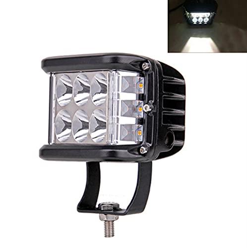 Bandas de faros del coche 4'pulgadas 12V 60 W Side Shooter Pods Combo LED TRABAJO LIGHT LUZ Strobe Lamp Niebla para conducir Offroad Boat Car Tractor Truck 4x4 SUV ATV (Color : White)