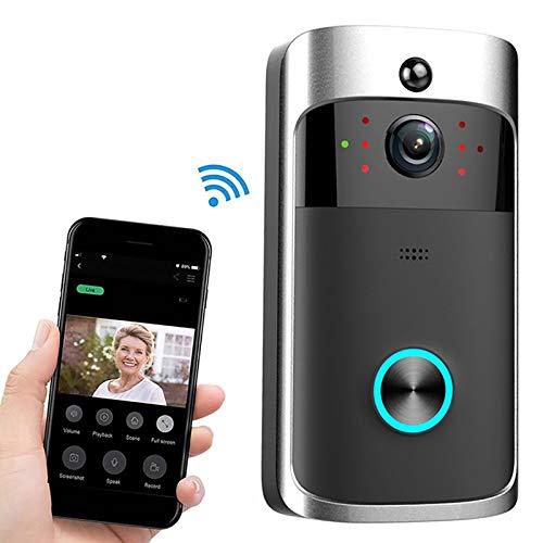 Video deurbel draadloze deurbel M3 720P Smart-WIFI Ultra Low Power Video visuele deurbel, ondersteuning van mobiele telefoon op afstand en Nightvision 2020 nieuwe zwart
