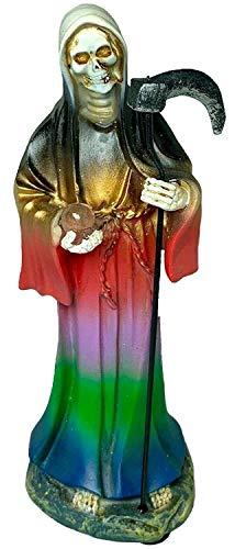 5 Inch Statue Santa Muerte Roja Red Holy Death Grim Reaper Skull Skeleton Niña
