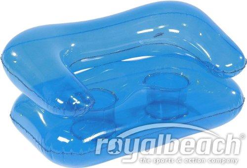 Royalbeach 22016 Sofa aufblasbar 'ZWEIER' Sofa aufblasbar, blau, 125 x 82x 60 cm (aufgeblasen)