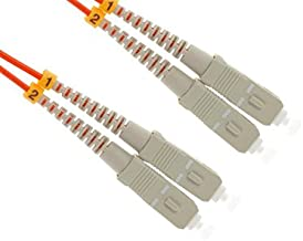 SC to SC Multimode Duplex 62.5/125 OM1 Fiber Patch Cable, 9 Meters, Lifetime Wty