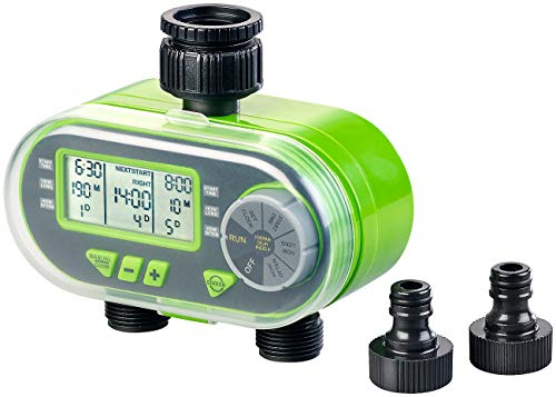 Royal Gardineer Beregnungscomputer: Digitaler Bewässerungscomputer BWC-200 mit 2 Anschlüssen (Automatische Bewässerung)