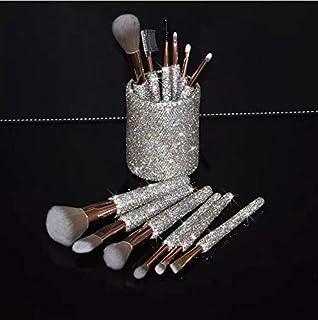TISHAA Bling Makeup Brush Set 12 Pcs – Premium Glitter Synthetic Professional Face Cosmetics Foundation Powder Concealer E...
