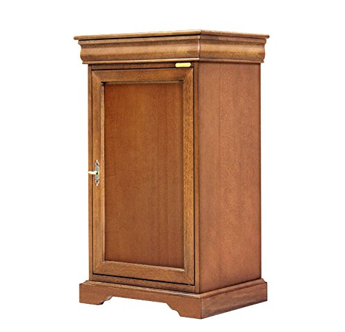 Arteferretto Kleiner Schrank Louis Philippe Stil 50.5 x 40 x H89,5, Struktur aus mit 1 Schublade und 1 höhenverstellbaren Einlegeboden, Möbel aus Italien Schon montiert NEU Wohnzimmer Flur Esszimmer