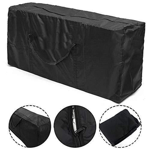 No-brand 210D Oxford Tuch Außenwohnmöbel Aufbewahrungstasche Staubabdeckungs-Kissen-Speicher-Beutel Bewegliche Wasserdicht Einfache Einkaufstasche zu Falten und tragen (Size : 122x39x55cm)