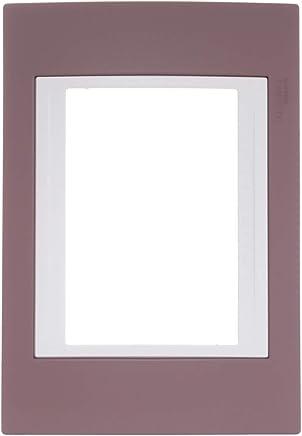 Placa 4X2 3 Postos Serie Plus com Moldura Marfim Única, Schneider Electric SEU6.103.576