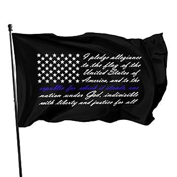 American Flag Pledge of Allegiance 3x5 FT American Flag Outdoor Banner Family Banner Garden Banner Black