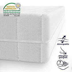 Mister Sandman 7-zone cold foam mattress with double cloth cover, polyester, H2_H3, 120 190 cm
