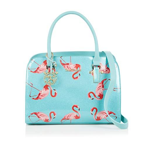 Shagwear Damen Handtasche Trendy Mehrfarbig Umhängetasche Shopper Tote Henkeltasche (Flamingo)