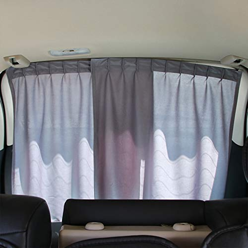 Andux Land Car Rear Window Shade Curtain Sunshade UV Protection a Pair HCZYL-01 (Grey)