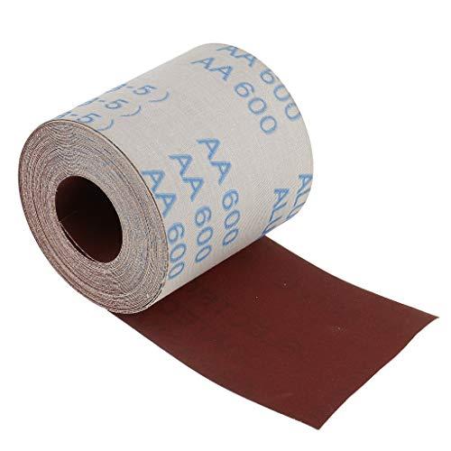 Schleiftuch-Rolle, Körnung 600 – Wasserdichtes Schleifpapier-Sortiment für Automobilschleifen, Holzmöbel-Finish und Holz-Drehbearbeitung, 10 m