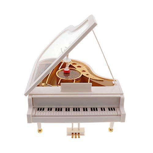 AJMINI creatieve piano dansen meisjes roterende muziek doos, vintage mechanische klassieke mooie ballerina meisje octaaf muziek doos
