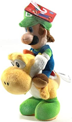 Global Holdings Super Mario Plush-8 Luigi Riding On Yoshi by Global Holdings