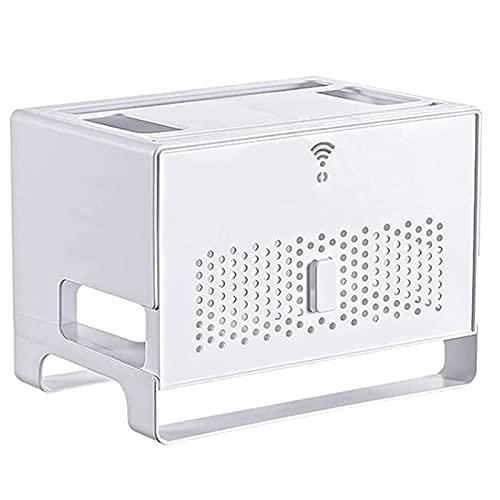 HSSZ Enrutador inalámbrico WiFi Rack Power TV Socket Fila enchufable para Bloquear la Caja de Almacenamiento Power Strip