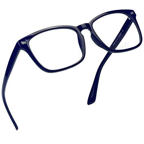 LifeArt Blaue Licht Blockieren Brille, Anti-Augen-Müdigkeit, Computer Lesebrillen, Gaming Brille, TV Brille für Frauen Männer, Anti UV, Anti Glare (Klare, 1.75 Vergrößerung)
