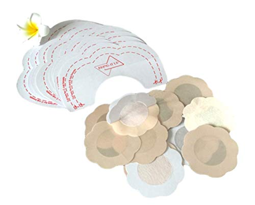 6er Set BH Brust Klebe Push Up Tapes Selbstklebend für Cup Größe [A bis D] | Unsichtbare Brusthebe-Pads inkl. Brustwarzenabdeckung | Klebe-BH mit Nippel Cover (Brust Abdeckung) | Trägerlos