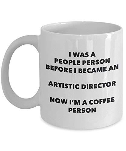 """King34Webb Taza de café con texto en inglés """"Artistic Director Persona"""", taza divertida para té, cacao, cumpleaños y Navidad"""