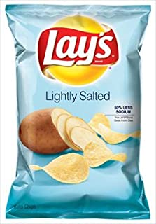 Lay's Lightly Salted Potato Chips 9.5 oz (Pack of 6)