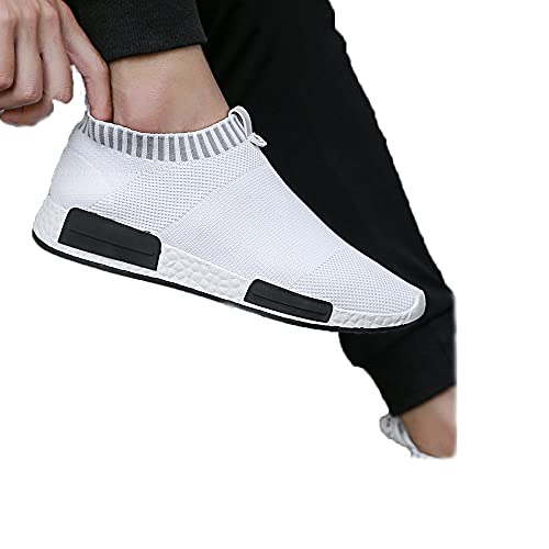 2021 Nightwalker Classic Sneakers Americ Style.Shoes Womens Hands Free Sneakers Men.Sports Zapatos Casuales (White, 43) ✅
