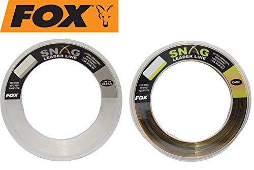 FOX Mono Leader Schlagschnur 100m (0,45mm-0,60mm), Tragkraft:35lbs/15.9kg, Farbe:Clear