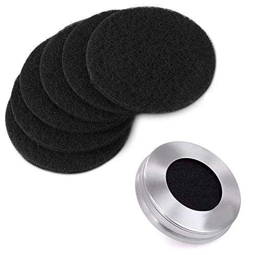 One Sight 7.25Inch Filters for Kitchen Compost Bin Charcoal Filter Replacement Activated Carbon, 6 Round, 1cm Thick, Fits Bucket Composter Gallon Pail Countertop Bins