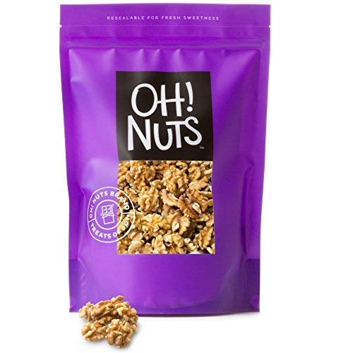 Oh! Nuts Raw Walnuts 2lb Bulk Bag | Shelled Healthy Mix of Chandler Halves & Pieces | Fresh & Healthy Keto Snacks | Chopped Nuts for Vegan, Paleo & Gluten-Free Diets | For Gourmet Baking & Cooking