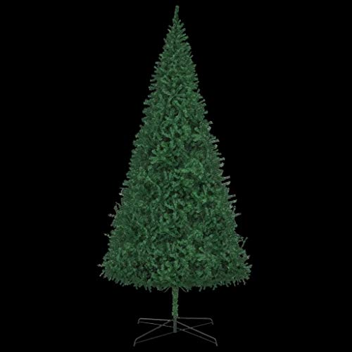 Cikonielf 400cm Green Artificial Pine Christmas Tree with Soul Stand 3670 Branches Easy Assembly Perfect for Indoor Christmas Decoration