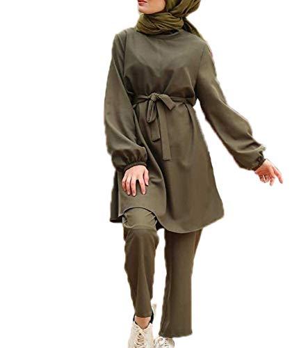 Mujer/Chica Árabe Musulmana Camisetas de Manga Larga + Pantalones Traje de 2 Piezas