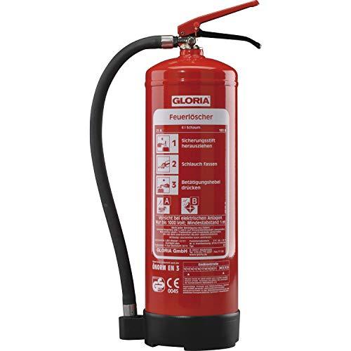 Schaumlöscher SD6, Stahlblech rot lackiert Löschmenge 6L Brandklasse A,B