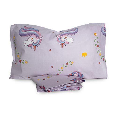 NOVIA Completo Lenzuola Unicorno Singolo Una Piazza V421 Lilla