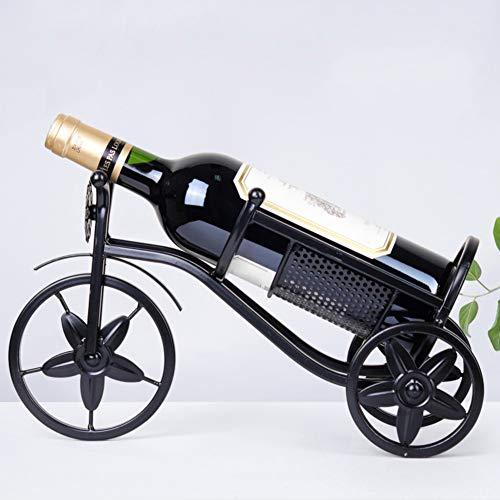 WineRack Europeo Metálico Botellero para Vinos Rústico Estante del Vino Decoración Estante para Vino Bonito Botellero para Botella De Agua,Vino,Cerveza-c W12xh24cm
