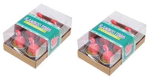 M.E.G. Cards & Gifts Set di 12Flamingo Pinks Candele tealight