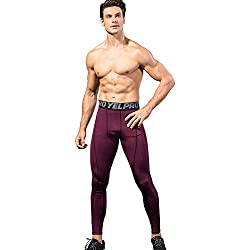 Yuerlian 1 Pack Mens Compression Leggings Cool Dry Sport Pants Running Gym Tights