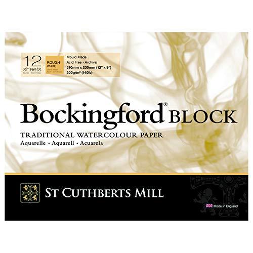 Bockingford 300gsm Block 12' x 9' (23 x 31centimeter) Rough