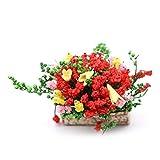 display0 Pot de fleurs miniature multicolore en plastique synthétique pour maison de poupée 1/12