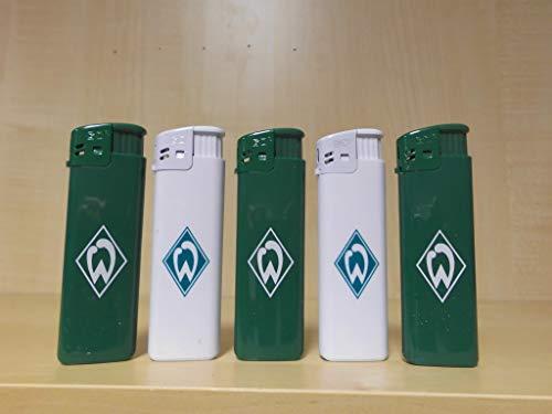 Werder Bremen SV 5 x tändare – elektronik – PIEZO – eltändare – fanartikel – fotboll – grön/vit – tändare –