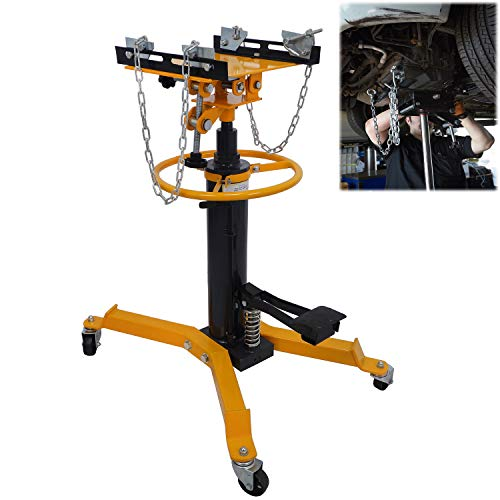 "XKMT- 33"" To 70""Professional Hydraulic Transmission Jack 1100 lbs/ 0.5 Ton 2 Stage for Car Lift [P/N: ET-CAR-FIX004-0.5T-YELLOW]"