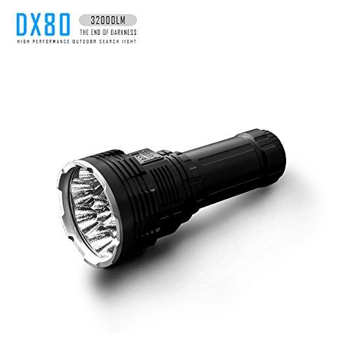 IMALENT DX80 Wiederaufladbar Taschenlampe 32000 Lumen, 8Pcs CREE XHP70 2 Generation LEDs Superhelle Taschenlampen, Extrem Hell Flutlichtlampe für Suche und Rettung