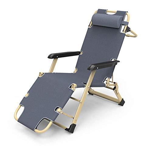 AKSHOME Zero Gravity Locking Patio Outdoor Lounger Chair, Foldable Recliner, Leisure Recliner Garden Recliner, Padded Folding Armchair, Maximum Weight 180 Kg-Gray